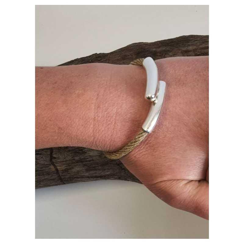 Bracelet 100% Bio en chanvre naturel et Acier made in france Avalon Gear