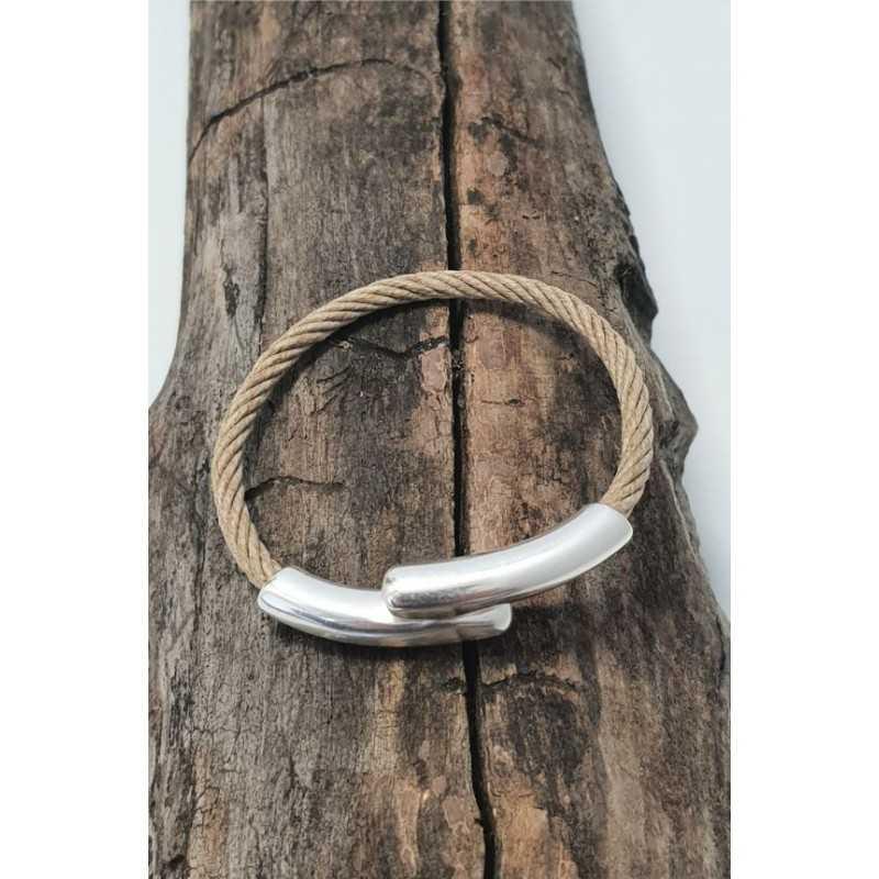 Bracelet Bio en chanvre naturel et Argent made in france Avalon Gear