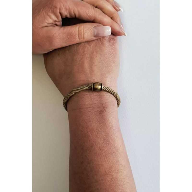 Bracelet 100% Bio en chanvre naturel et bronze made in france Avalon Gear