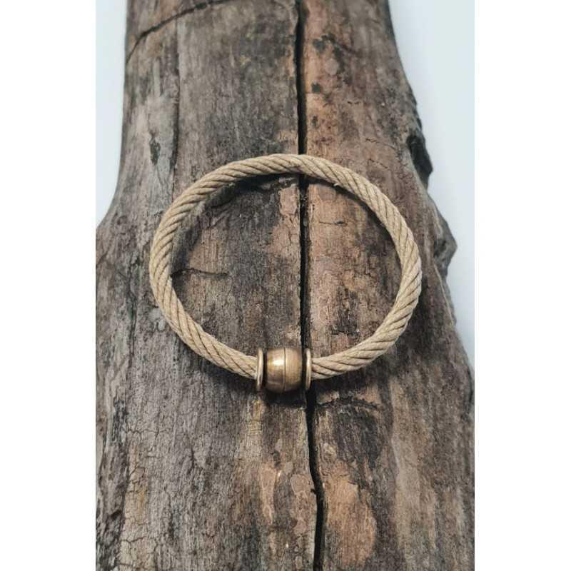 Bracelet Bio en chanvre naturel et bronze made in france Avalon Gear