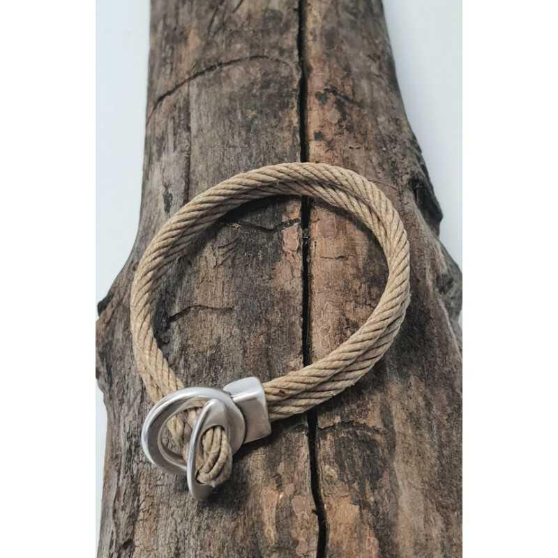 Bracelet Bio en chanvre naturel et métal made in france Avalon Gear