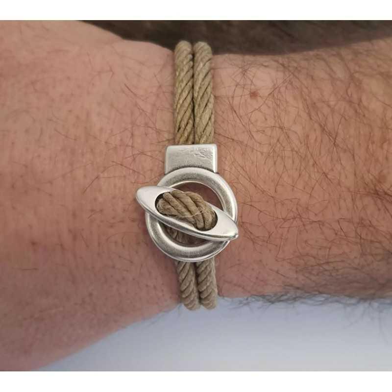 Bracelet 100% Bio en chanvre naturel et metal made in france Avalon Gear